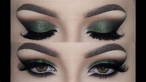 Olive Green Cat Smokey Eyes  U2661 Make Up Tutorial