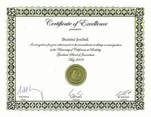 Certificate of Excellence Template | Certificate Templates