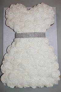 39 best bridal shower images on pinterest wedding dress With wedding dress cupcake cake