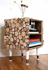 35 diy log ideas take rustic decor to your home for What kind of paint to use on kitchen cabinets for log slice wall art