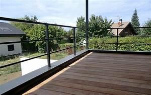 garde corps de terrasse en acier noir garde corps With modele escalier exterieur terrasse 8 balustrade bois exterieur pas cher
