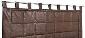 Tete De Lit Marron : rideau t te de lit imitation cuir marron noir blanc homemaison vente en ligne ~ Melissatoandfro.com Idées de Décoration