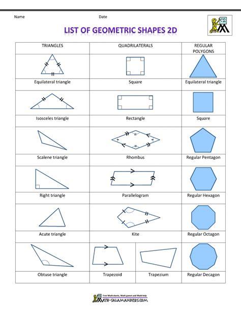 maths 2d shapes worksheets naming 2d shapes mathematics maths shapes with names worksheets kristawiltbank free