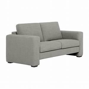 Canapé Gris Clair Tissu : bosa canap 2 places en tissu gris clair confort m dium habitat ~ Melissatoandfro.com Idées de Décoration