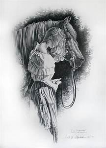 Horse Art  Dos Senoritas  Drawing Of My Daughter  Of A