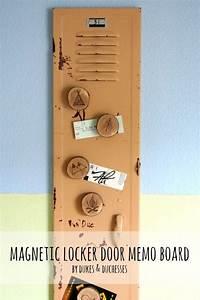 magnetic, locker, door, memo, board