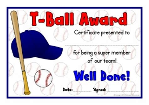 t ball games for preschoolers primary sports award certificates sparklebox 857