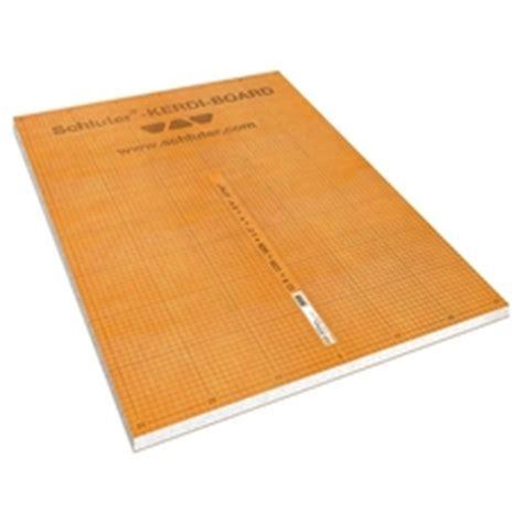 waterproof building board schluter kerdi 1 2in thick waterproof substrate and building board panel 48in x 96in