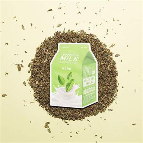 a pieu green tea milk sheet mask shop korean sheet mask in australia nudie glow