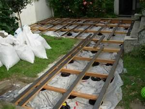 construire une terrasse en bois sur terre With faire une terrasse en caillebotis