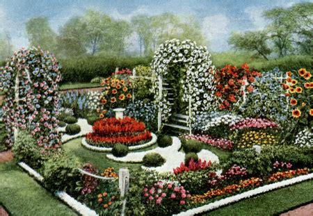 Harmonious Formal Garden Layout by Flower Garden Plans 6 Vintage Annual Flower Formal