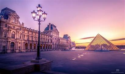 Louvre Paris France Near Wallpapers During Pyramid
