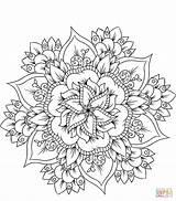 Coloring Mandala Seniors Easy Sheets Blumen Healthcare Flower Care Manhattan Bridge Aged Channel Ausmalbild sketch template