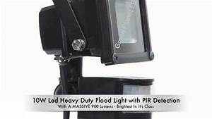 W led flood light with pir detection green planet