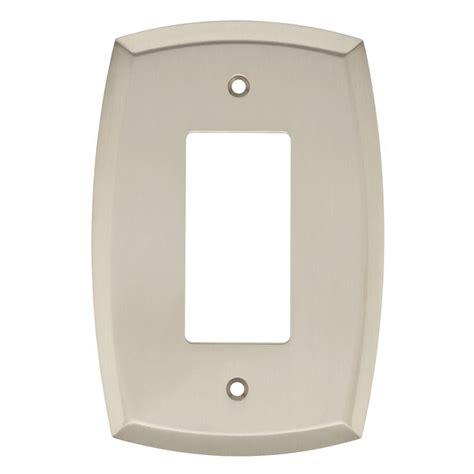 brushed nickel light switch liberty mandara decorative single rocker switch plate