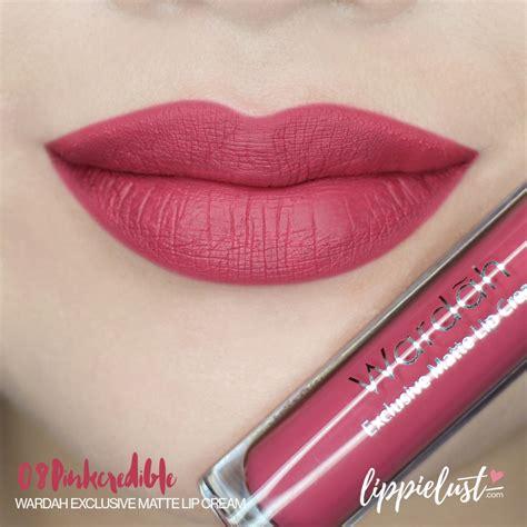 swatch review wardah exclusive matte lip cream