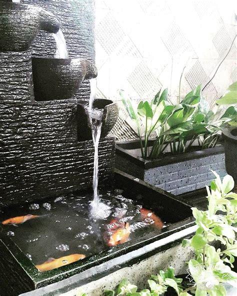 model kolam ikan  air mancur unik kolam ikan minimalis pinterest wall fountains