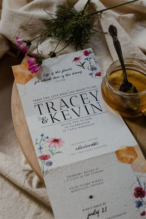 Hand Delivered Ethical Invitations Made with Wildflower