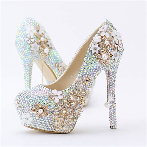 Wedding High Heels by 2018 New Lovely Sparkling Pumps Religious Ceremony