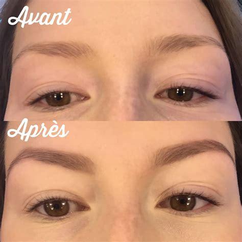 maquillage sourcils avant apres