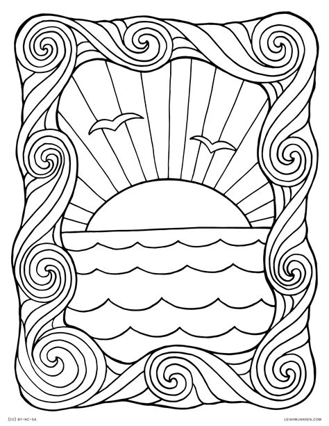 water waves coloring pages  getcoloringscom  printable colorings pages  print  color