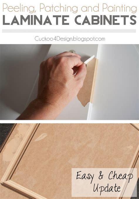 Laminate Cupboards Peeling by Painting Laminate Kitchen Cabinets Cuckoo4design