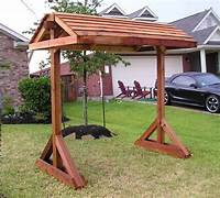 free standing swing Free Standing Porch Swing Plans | Patio | Pinterest ...