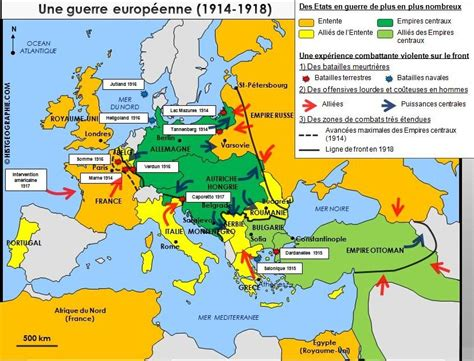 Carte De L Europe En 1914 Et 1918 by Carte Des Zones De Front En Europe Pendant La Premi 232 Re