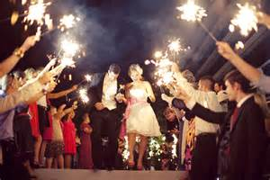 sparklers for wedding send it