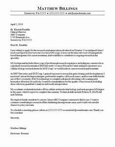 Cover Letter Research Scientist Cover Letter Ideas On