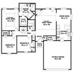 Simple Bedroom One Story House Plans Ideas by 654099 One Story 3 Bedroom 2 Bath Traditional Style