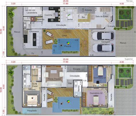 4 bedroom townhouse floor projeto de sobrado em l com área gourmet planta para