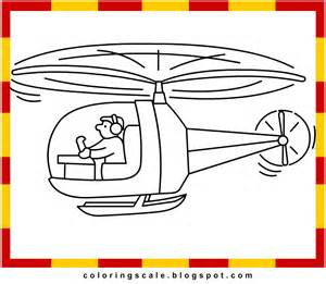 Printable Helicopter Coloring Pages for Kids