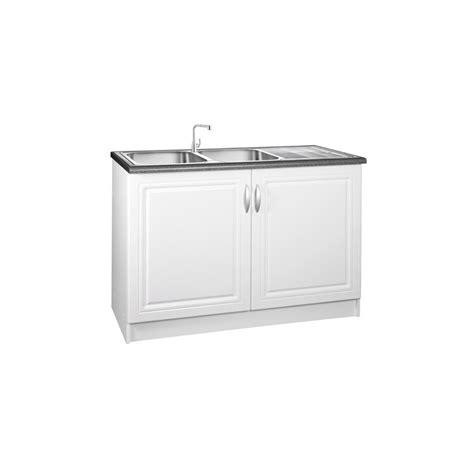 meuble cuisine sous evier 120 cm meuble de cuisine sous évier 2 portes 120 cm dina en