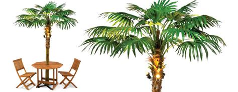 Lighted Palm Tree Umbrella-the Green Head