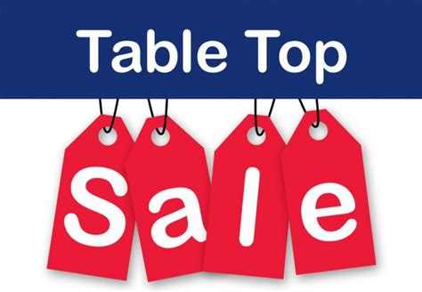Tabletop Sale by Table Top Sale Perins Community
