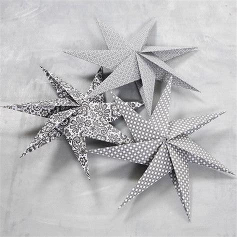 Fensterdeko Weihnachten Falten by Sterne Aus Quadratischem Papier Mit 7 Zacken Falten
