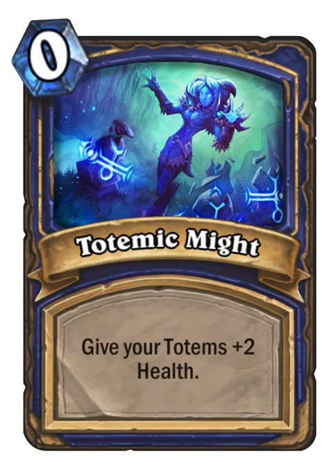 basic shaman deck hearthstone 2014 totemic might hearthstone card