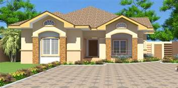 Three Bedroom Home by House Plans Nii Ayitey House Plan