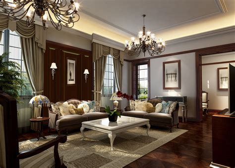 Classic English Living Room Design