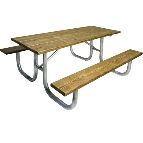 6 foot wood table ultra play 6 ft pressure treated wood commercial park