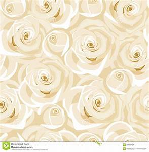 Seamless Background With White Roses And Buds. Stock ...