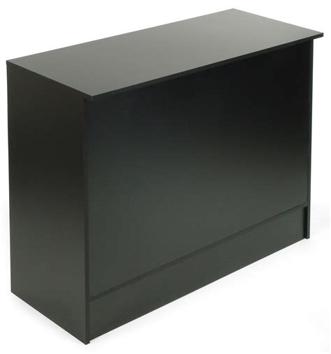 store cash wrap counter black melamine display