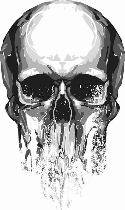 Skull Transparent Silhouette Cartoon Clipart Punisher Newcastlebeach