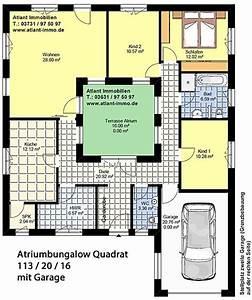 Atrium Bungalow Grundrisse : atriumbungalow quadrat 113 20 16 einfamilienhaus neubau massivbau stein auf stein ~ Bigdaddyawards.com Haus und Dekorationen