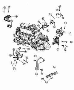 2002 Chrysler Voyager Support  Transmission  Rear  Front