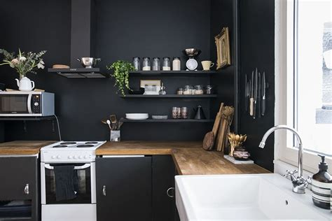 painted kitchen cabinets home renovation black walls in the kitchen no glitter 3998