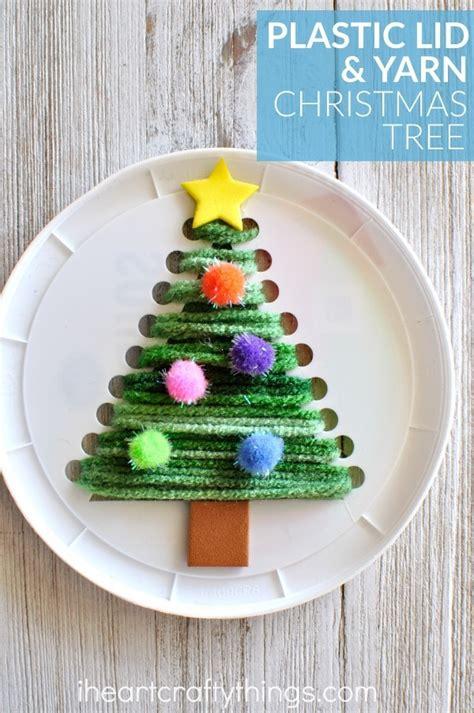 plastic lid christmas tree sewing craft