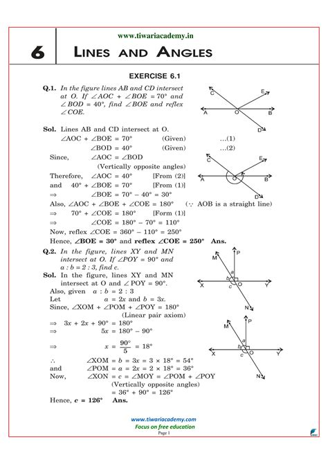 Free Ncert Solutions For Class 9 Maths Chapter 6 In Pdf (download