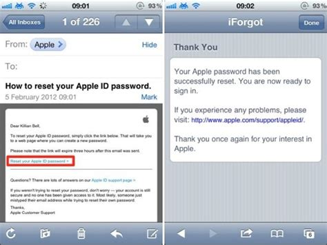 how to change email password on iphone change or reset your apple id password on your ios device